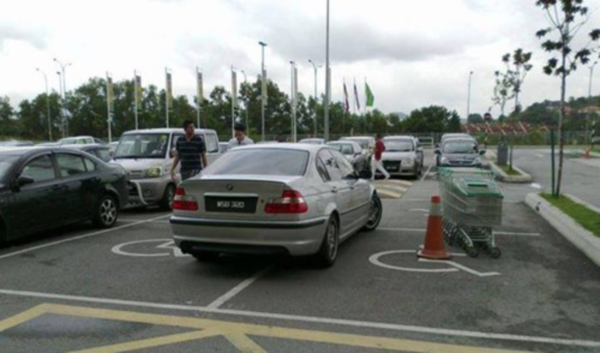 bmw disabled parking
