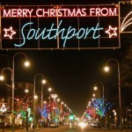 Southport's Christmas lights will be back on when someone works out which bulb has gone